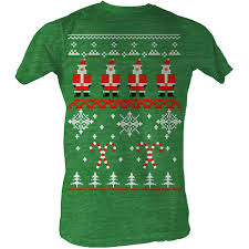 Ugly Green Ugly Christmas Sweater Tee Gr Christmas Tees Pop Culture T