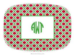 monogrammed platters boatman geller monogrammed and personalized melamine platters on sale