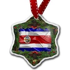 ornament costa rica 3d flag neonblond