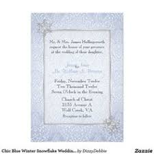 Snowflake Wedding Invitations Chic Blue Jeweled Snowflake Wedding Invitation Weddings