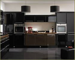 black gloss kitchen ideas kitchen ideas with black appliances black wood laminated floor