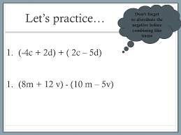 lesson 3 more with combining like terms ppt download