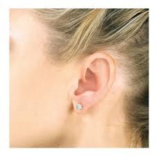 diamond stud size 3 00 carat diamond stud earrings in 14 karat white gold