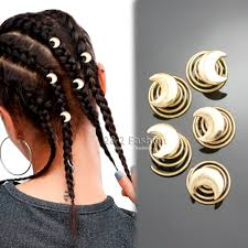 5pcs gold moon spiral rasta mambo dreads hair pin dress clip