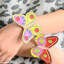 bracelets for butterfly paper bracelets for kids easy peasy and