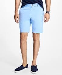 mens light blue shorts stretch cotton twill shorts brooks brothers