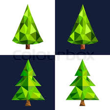 tree flat 3d lowpoly pixel icon triangle