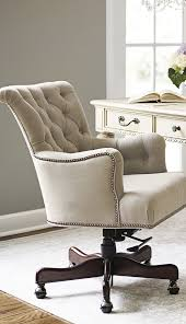 Living Room Desk Chair Button Tufted Linen Accented With Silver Nailhead Trim Defines The