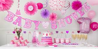 baby shower centerpieces for a girl it s a girl baby shower decorations party city
