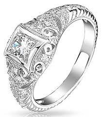 amazon com bling jewelry 925 silver vintage art deco style cz