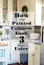 does paint last on kitchen cabinets painted kitchen cabinets three years later