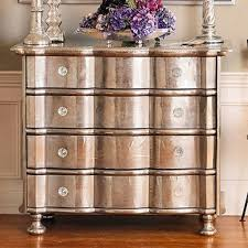 Silver Leaf Nightstand Silver Leaf Dresser Chest Of Drawers Purple Accents Home Room