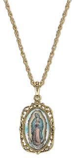 catholic necklaces free catholic gifts with gold our of guadalupe medallion