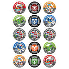 transformers rescue bots 1 edible cake or cupcake topper edible rescue bots edible cupcake toppers personalised printed edible