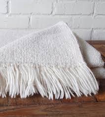 Woven Throw Rugs White Wool Woven Throw Blanket Home Decor U0026 Lighting Local