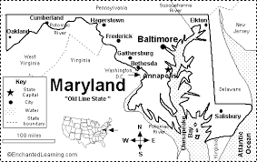 map of maryland with cities maryland map quiz printout enchantedlearning