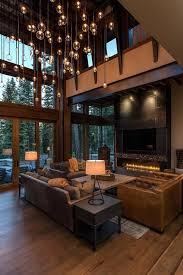 modern home interior ideas contemporary hanging lighting and wood barn beams luxury rustic