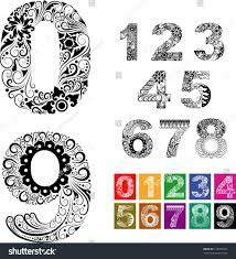 number ornaments easy edit use any stock vector 116993341