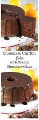 chocolate chiffon cake with orange chocolate glaze recipe