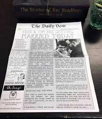 customized wedding programs best 25 wedding newspaper ideas on day news gangster