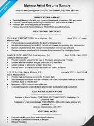 Movie Theater Resume Sample by Makeup Artist Resume Template Makeup Artist Resume Sle Breakupus