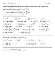 derivatives review ap calculus bc worksheet 22 1 derivatives