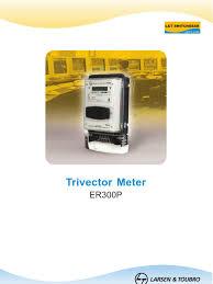 l u0026t trivector meter er300p electricity electromagnetism