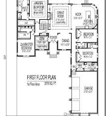 Bedroom On Main Floor Side Garage House Plans  Bedroom House - 5 bedroom house floor plans