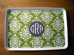 monogrammed trays 7 best preppy chic trays images on serving trays