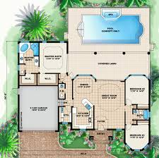 house plans with a pool house plan chp 46835 house plans house and florida house plans