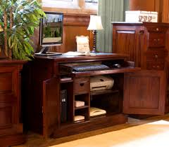 Home Office Computer Desk by Chateau Mahogany Hidden Home Office Computer Desk