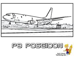 wide wing military airplane coloring p 8a poseidon wow http