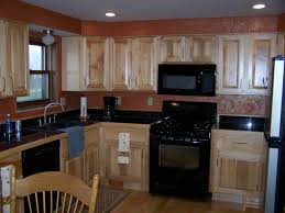Honey Kitchen Cabinets Maple Kitchen Cabinets With Black Appliances Home Design Ideas