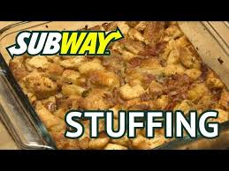 make thanksgiving out of 2 subway sandwiches