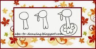 abc to drawing thanksgiving turkey