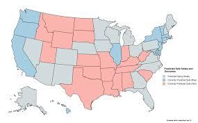 Red States Blue States Map by Safe States Project Post Mortem U2013 Katy Levinson U2013 Medium