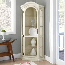 small white corner cabinet for kitchen shelia corner curio cabinet