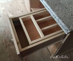 ana white kitchen drawer organizer adding a double drawer to