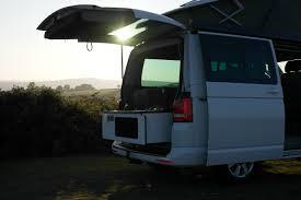 volkswagen california shower slidepods kitchen pods