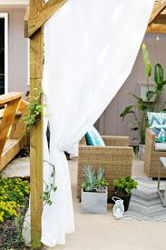 Pergola With Fabric by Make Your Own Outdoor Pergola Curtains U2013 A Beautiful Mess