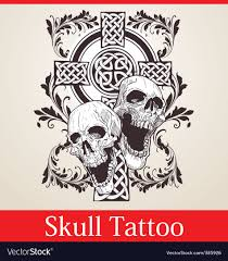 skull cross royalty free vector image vectorstock