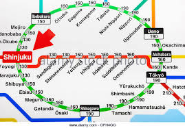 shinagawa station map railway map stock photos railway map stock images