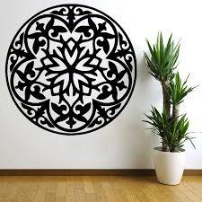 Wall Decals Mandala Ornament Indian by Flower Wall Decal Vinyl Stickers Art Decor Mandala Menhdi Om