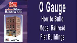 Railroad House Plans O Gauge How To Build Model Railroad Flat Buildings Youtube