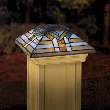 shop maine ornamental 6 in x 6 in stained glass and wood solar