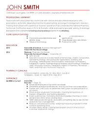 resume examples pharmacy technician resume for your job application