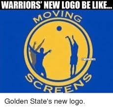 Nba Logo Meme - warriors new logo be like ovin onbamemes creep golden state s new