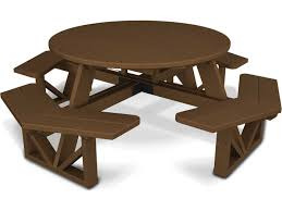 Recycled Plastic Outdoor Furniture Polywood Park Recycled Plastic 53 Round Table Ph53