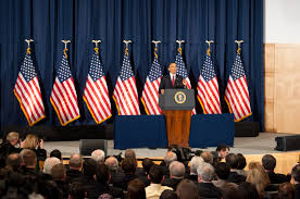 Military Flag Case File President Barack Obama Speaking On The Military Intervention