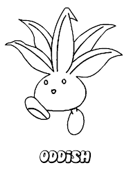 oddish coloring pages hellokids com